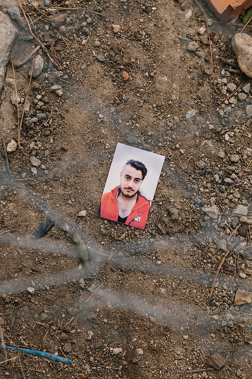 """Ryad, 20 from Aleppo, paid $1600 to escape to Greece. A college student reading mathematics until war disrupted his education. """"We are going to Germany because it is a country of peace. My mother is still in Syria. My father and brother died in an air attack a year ago"""""""