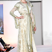 Designer Safia Halim showcases at the London Arabia Art & Fashion Week 2019 at Jumeirah Carlton Tower, on 5 August 2019, London, UK.