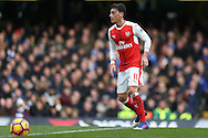 Mesut Ozil of Arsenal in action. Premier league match, Chelsea v Arsenal at Stamford Bridge in London on Saturday 4th February 2017.<br /> pic by John Patrick Fletcher, Andrew Orchard sports photography.