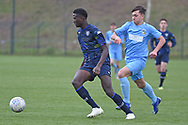 Leeds United midfielder Nohan Kenneh on the attack during the U18 Professional Development League match between Coventry City and Leeds United at Alan Higgins Centre, Coventry, United Kingdom on 13 April 2019.