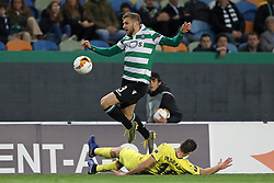 February 14, 2019 - Lisbon, Portugal - Stefan Ristovski of Sporting CP in action during the Europa League 2018/2019 footballl match between Sporting CP vs Villarreal FC. (Credit Image: © David Martins/SOPA Images via ZUMA Wire)