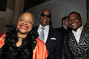 NEW YORK, NEW YORK-JUNE 4: (L-R) Photographic Historian/Author/Arts Educator Dr. Deb Willis, Dr. Hank Thomas and Visual Artist Kehinde Wiley (Honoree) attend the 2019 Gordon Parks Foundation Awards Dinner and Auction Red Carpet celebrating the Arts & Social Justice held at Cipriani 42nd Street on June 4, 2019 in New York City.  (photo by terrence jennings/terrencejennings.com)
