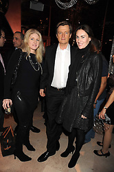 BIRGIT CUNNINGHAM, COUNT ERIK WACHTMEISTER and LAETITIA CASH at a party to celebrate the 10th birthday issue of Spears Wealth Management Survey held at Molton House, South Molton Street, London on 25th November 2008.
