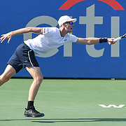 JAMIE MURRAY hits a forehand at the Rock Creek Tennis Center.