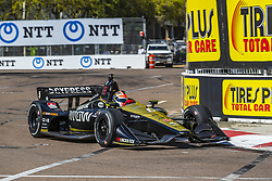 March 8, 2019 - St. Petersburg, Florida, U.S. - JAMES HINCHCLIFFE (5) of Canada goes through the turns during practice for the Firestone Grand Prix of St. Petersburg at Temporary Waterfront Street Course in St. Petersburg, Florida. (Credit Image: © Walter G Arce Sr Asp Inc/ASP)