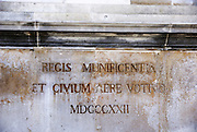 Nimes, Languedoc-Roussillon, France statue of the Roman Emperor Antoninus Pius