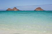The Mokulua Islands off Lanikai Beach on Oahu.