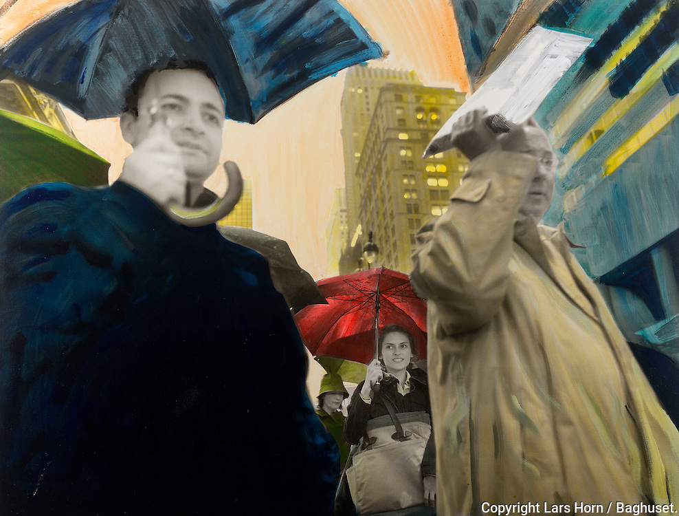 NYC in Colors.  Horn/Andersen<br /> Cover up the rain 100x130Kr.   12.500,-<br /> Foto: © Lars Horn / Baghuset<br /> Date : 15.07.13