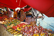Venezuelan produce vendors at floating market, Willemstad, Curacao, Netherlands Antilles ( Caribbean Sea )