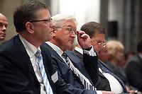 """03 AUG 2009, BERLIN/GERMANY:<br /> Frank-Walter Steinmeier (M), SPD, Bundesaussenminister und Kanzlerkandidat, Veranstaltung der Karl-Schiller-Stiftung zum Thema """"Die Arbeit von morgen - Politik fuer das naechste Jahrzehnt"""", Baerensaal, Altes Stadthaus<br /> IMAGE: 20090803-02-019"""