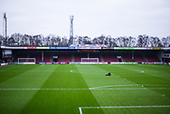 A general view of the Glanford Park pitch before the EFL Sky Bet League 1 match between Scunthorpe United and Coventry City at Glanford Park, Scunthorpe, England on 5 January 2019.