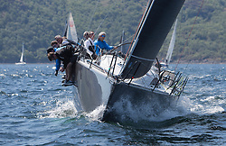 Sailing - SCOTLAND  - 25th-28th May 2018<br /> <br /> The Scottish Series 2018, organised by the  Clyde Cruising Club, <br /> <br /> First days racing on Loch Fyne.<br /> <br /> IRL2007, Jump Juice, Conor Phelan, RCYC, Ker 37 custom<br /> <br /> Credit : Marc Turner<br /> <br /> <br /> Event is supported by Helly Hansen, Luddon, Silvers Marine, Tunnocks, Hempel and Argyll & Bute Council along with Bowmore, The Botanist and The Botanist
