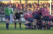 Gloucester, Gloucestershire, UK., 04.01.2003, Andy GOMARSELL. collecting the rucked ball,  during, Zurich Premiership Rugby match, Gloucester vs London Wasps,  Kingsholm Stadium,  [Mandatory Credit: Peter Spurrier/Intersport Images],