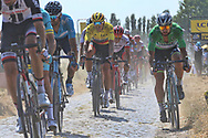 Greg Van Avermaet (BEL - BMC) yellow jersey during the 105th Tour de France 2018, Stage 9, Arras Citadelle - Roubaix (156,5km) on July 15th, 2018 - Photo Ilario Biondi / BettiniPhoto / ProSportsImages / DPPI