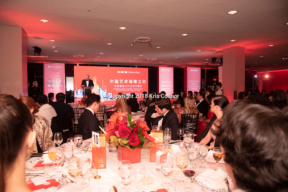 """NEW YORK- JANUARY 12: Malcolm Stevenson """"Steve"""" Forbes Jr. speaks during the Chinese Arts Global Tour Gala in the Delegates Dining Room at the United Nations Headquarters on January 12th, 2019 in New York City. (Photo by Kris Connor/Smokeless Fire Group)"""