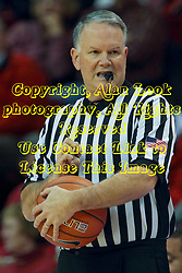 17 December 2014:  Referee Mike Stuart during an NCAA Men's Basketball game between the Skyhawks of University of Tennessee - Martin and the Redbirds of Illinois State at Redbird Arena in Normal Illinois