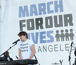 MARCH FOR OUR LIVES, protesting gun violence in schools - Los Angeles. 24 Mar 2018 Pictured: Charlie Puth. Photo credit: MEGA TheMegaAgency.com +1 888 505 6342