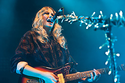 "© Licensed to London News Pictures. 11/05/2012. London, UK. Ladyhawke performs live at O2 Shepherd's Bush Empire.  Phillipa Margaret ""Pip"" Brown (born 13 July 1979), better known by her stage name Ladyhawke, is a New Zealand singer-songwriter and multi-instrumentalist.  Photo credit : Richard Isaac/LNP"