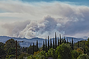The Woolsey wildfire on Novemer 11. The fire started on November 8, 2018 and has burned over 98,000 acres of land, destroyed an estimated 1,100 structures and killed 3 people in Los Angeles and Ventura counties and the especially hard hit area of Malibu. California, USA