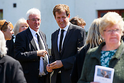© Licensed to London News Pictures. 12/06/2015. Fort William, UK. ALASTAIR CAMPBELL attending the funeral of ex-Liberal Democrat leader Charles Kennedy at St John's Church in Caol, near his Fort William home in Scotland on Friday, June 12, 2015. Mr Kennedy died suddenly on June 1, 2015 at the age of 55 after suffering a major haemorrhage as a result of a long battle with alcoholism. Photo credit: Tolga Akmen/LNP