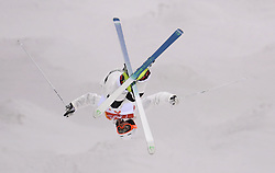 Finland's Jimi Salonen practices during the Freestyle Skiing mens Moguls Entries by Event during a preview day at the Phoenix Snow Park, ahead of the PyeongChang 2018 Winter Olympic Games in South Korea.