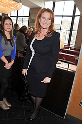 SARAH, DUCHESS OF YORK at a ladies lunch in support of Maggie's Barts hosted by Judy Naake, Clara Weatherall and Caroline Collins at Le Cafe Anglais, 8 Porchester Gardens, London W2 on 19th March 2013.