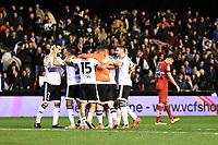 Valencia's   players celebrating the victory   during La Liga match. February 13, 2016. (ALTERPHOTOS/Javier Comos)