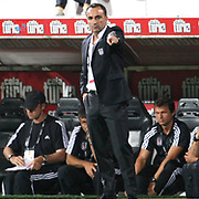 Besiktas's coach Carlos CARVALHAL during their UEFA Europa League Play-Offs first leg match soccer match Besiktas between Alania Vladikavkaz at Inonu stadium in Istanbul Turkey on Thursday August 18, 2011. Photo by TURKPIX