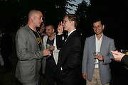 DINOS CHAPMAN, HARRY  HOPPER AND MATTHEW  SLOTOVER, The Summer Party in association with Swarovski. Co-Chairs: Zaha Hadid and Dennis Hopper, Serpentine Gallery. London. 11 July 2007. <br /> -DO NOT ARCHIVE-© Copyright Photograph by Dafydd Jones. 248 Clapham Rd. London SW9 0PZ. Tel 0207 820 0771. www.dafjones.com.