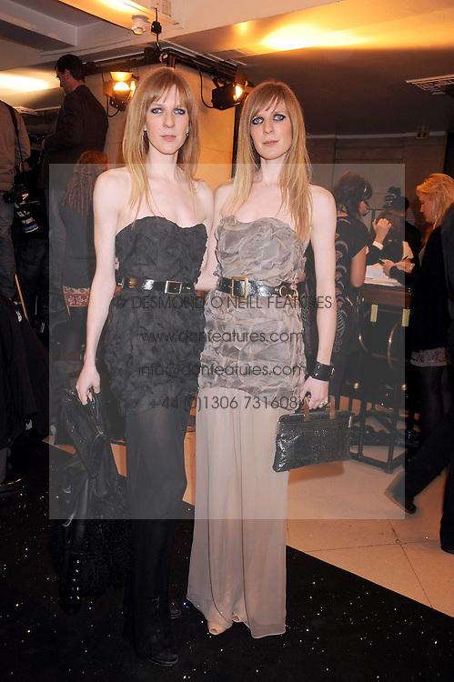Left to right, ANETTE FELDER and DANIELLA FELDER design label Felder & Felder at the 2008 British Fashion Awards held at the Lawrence Hall, Westminster, London on 25th November 2008.