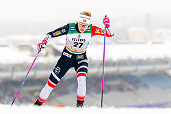 February 9, 2019 - Lahtis, FINLAND - 190209  Anne Kjersti KalvÅ' of Norway competes in the women's sprint qualification during the FIS Cross-Country World Cup on February 9, 2019 in Lahti..Photo: Johanna Lundberg / BILDBYRN / 135946 (Credit Image: © Johanna Lundberg/Bildbyran via ZUMA Press)