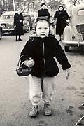 little girl in the street France ca 1950s