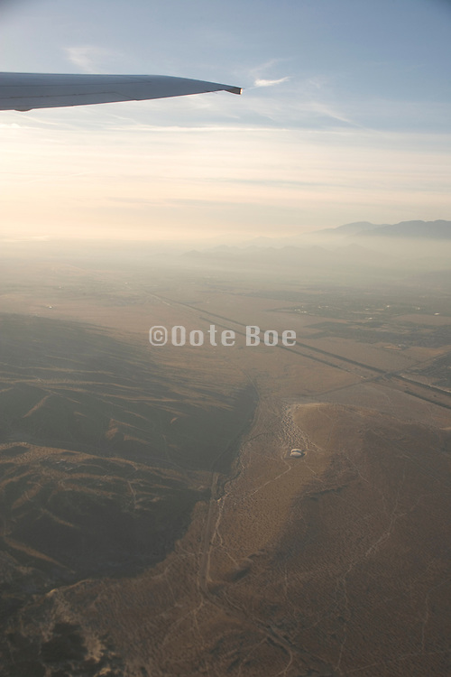 looking out over the desert landscape of California