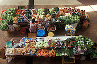 French Polynesia, Islands in the South Pacific, part of the French overseas Territories.Photo by Owen Franken.The market in Papaeete, the capital of French Polynesia on Tahiti...Photo by Owen Franken