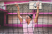 "ANA MARIA CAMPOS II PRISON, MARACAIBO. - December 2018<br /> <br /> A woman inside a ""closed"" prison in Maracaibo - the border city between Venezuela and Colombia - helps arrange the net to play volleyball. Their schedules include playing sports along with receiving classes, motivational and disciplinary workshops and arts and crafts. The purpose of these centers is to reform women and avoid relapse. They get redemptions if they behave properly to get their sentence reduced."