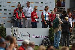 Laeremans Wendy, Wathelet Gregory, Vereecke Evi, Melchior Judy Ann, Rydant Hymne<br /> Team and 1th individual qualifier <br /> FEI European Championships - Aachen 2015<br /> © Hippo Foto - Dirk Caremans<br /> 19/08/15