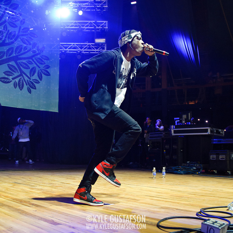COLUMBIA, MD - April 28th, 2012 -  Rapper A$AP Rocky performs at the 2012 Sweetlife Food and Music Festival at Merriweather Post Pavilion in Columbia, MD. After a string of successful mixtapes, his debut album, LongLiveA$AP, is scheduled to be released in July 2012. (Photo by Kyle Gustafson/For The Washington Post)