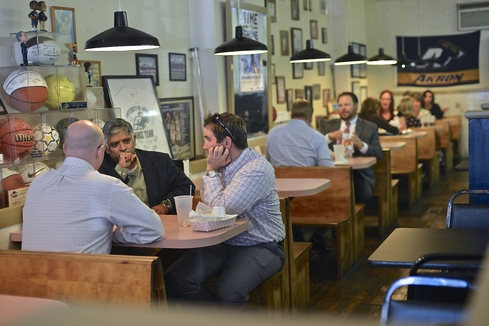 Guests dining inside Diamond Deli.