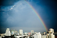 Rainbow, Skyline, Bangkok, Thailand