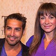 NLD/Amsterdam/20130625 - Premiere van de film Tula The Revolt, Barbara Karel en partner DJ Amir Charles