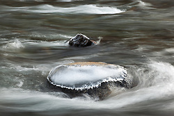 """""""Icy Rock in the Truckee River"""" - This ice covered rock was photographed in the Truckee River."""