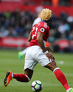 Adama Traore of Middlesbrough in action.Premier league match, Swansea city v Middlesbrough at the Liberty Stadium in Swansea, South Wales on Sunday 2nd April 2017.<br /> pic by Andrew Orchard, Andrew Orchard sports photography.