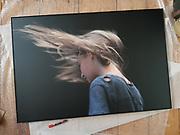 foto in privebezit / formaat 80x120cm / zwarte dibondlijst