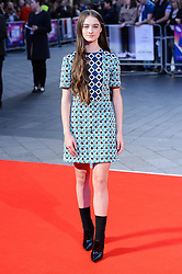 October 12, 2017 - London, London, UK - Raffey Cassidy attends the UK film premiere of Killing Of A Sacred Deer showing as part of the 51st BFI London Film Festival. (Credit Image: © Ray Tang via ZUMA Press)