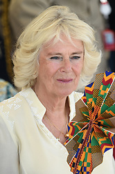 The Duchess of Cornwall during a visit to the Jamestown Cafe in Accra, Ghana, on day four of their trip to west Africa.