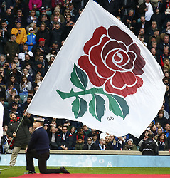 March 9, 2019 - London, England, United Kingdom - England Flag.during the Guinness 6 Nations Rugby match between England and Italy at Twickenham  stadium in Twickenham  England on 9th March 2019. (Credit Image: © Action Foto Sport/NurPhoto via ZUMA Press)