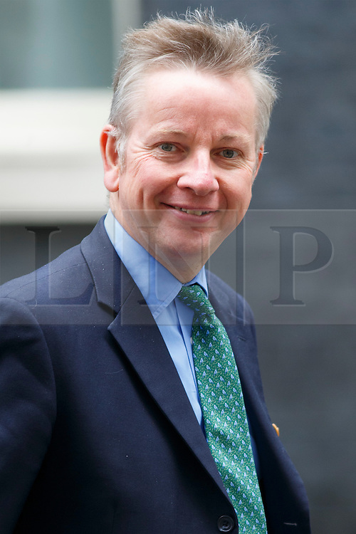 © Licensed to London News Pictures. 09/06/2015. Westminster, UK. Justice Secretary MICHAEL GOVE attending to a cabinet meeting in Downing Street on Tuesday, 9 June 2015. Photo credit: Tolga Akmen/LNP