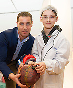 27/11/2016 REPRO FREE:  <br />  Paul Schuler (11) from Menlopictured with Ronan Rogers, Director of R&D, Medtronicenjoy the Medtronic ExhibitioninNUI Galway as part of the Galway Science & Technology Festival.  <br /> Photo: Andrew Downes, Xposure.