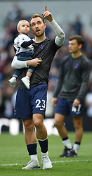Tottenham Hotspur's Christian Eriksen and his family on the lap of appreciation