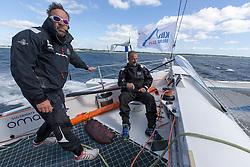 Tim Kroger (GER) and Damian Foxall (IRL) Oman Sail's MOD70 Musandam during Kiel week 2014, 22-06-2014, Kiel - Germany.
